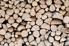 Firewood dry logs in a pile Royalty Free Stock Photography