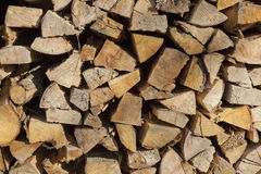 Firewood drying Royalty Free Stock Photos