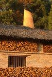 Firewood in factory,Jingdezhen China Stock Image