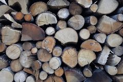 Firewood for fireplaces Stock Image