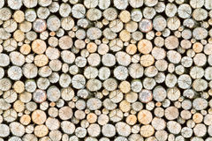 Firewood free-standing stack, seamless pattern Stock Photos