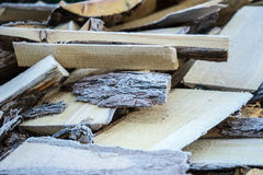 Firewood with frost Royalty Free Stock Photo