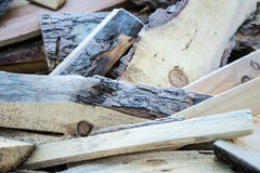 Firewood with frost Stock Photography