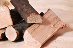 Firewood fuel energy Stock Image