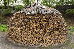 Firewood a heap Royalty Free Stock Photo