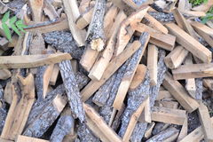 Firewood. For heating the stone oven Royalty Free Stock Images