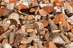 Firewood at home royalty free stock photo