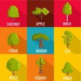 Firewood icons set, flat style. Firewood icons set. flat set of 9 firewood vector icons for web isolated on white background Royalty Free Stock Image