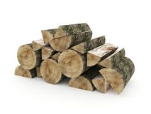 Firewood isolated rendered. On white background Royalty Free Stock Photo