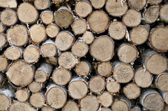 Firewood Laid Stock Image