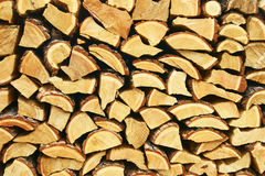 Firewood of the larch Royalty Free Stock Photos