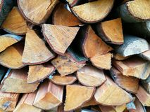 Firewood. Lies on the street Royalty Free Stock Image