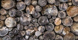 Firewood log pile stock photography