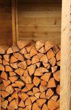 Firewood Log Store. Royalty Free Stock Image