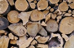 Firewood Logs Background Royalty Free Stock Photos