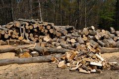 Firewood and logs Stock Photos