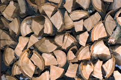 Firewood logs in a pile Stock Photo