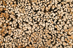 Firewood logs stacked Royalty Free Stock Photo