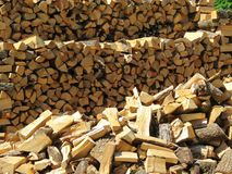 Firewood made from wood Royalty Free Stock Image