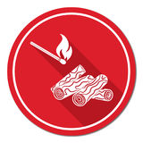 Firewood and matches icon Royalty Free Stock Photos