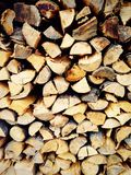 firewood material Stock Photos