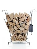 Firewood metal stand Stock Images