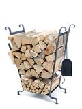 Firewood metal stand Stock Photos