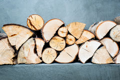 Firewood. Natural wooden background and textures stock images
