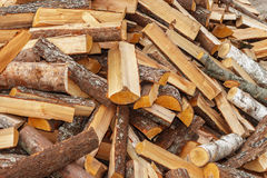 Firewood. Nature material for heating in cold season Stock Image