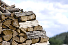 Firewood in Nature - Wood Royalty Free Stock Photo