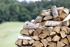 Firewood in Nature - Wood Royalty Free Stock Photos