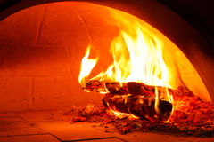 Firewood oven for bake pizza Royalty Free Stock Images
