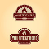 Firewood oven color design - vector set. Firewood oven logo or badge. Vector illustration Royalty Free Stock Photo