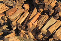 Firewood. Packed for winter heating Stock Photos