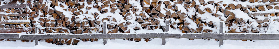 Firewood panorama Stock Images