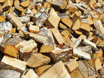 Firewood patter. Birch tree firewood , can use as background stock photos
