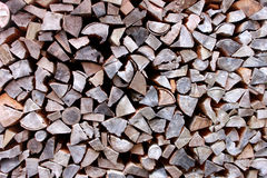 Firewood pattern. Firewood heap as a background pattern Stock Photography