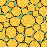 Firewood pattern. Seamless pattern of the firewood stack Stock Photos