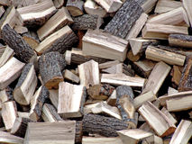 Firewood pile. Big pile of firewood for fireplace Royalty Free Stock Photography