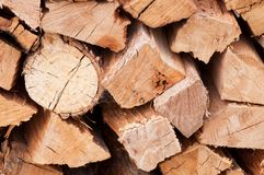 Firewood pile Stock Photos
