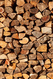 Firewood pile background Royalty Free Stock Photos