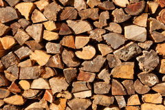 Firewood pile background Stock Photography
