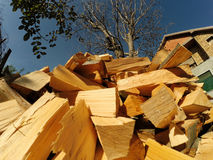 Firewood Pile Royalty Free Stock Photo