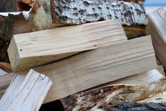 Firewood. A pile of firewood, close up look Royalty Free Stock Photos