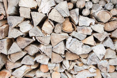 Firewood. A pile of dry wood Stock Photo