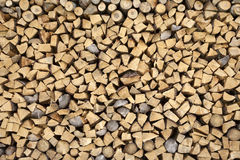 Firewood on a pile stock photography