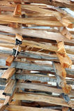 Firewood. The pile of firewood pieces Royalty Free Stock Photography