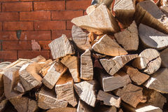 Firewood pile Royalty Free Stock Image