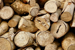 Firewood. A Pile Of Firewood Trunks Royalty Free Stock Images