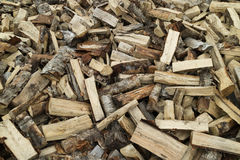 Firewood pile of wood cuttings Royalty Free Stock Image